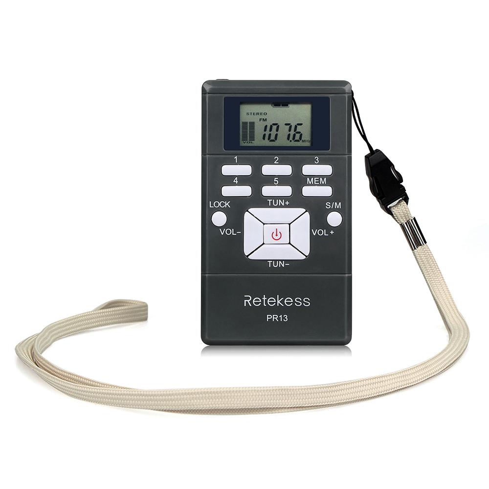 Портативный стерео мини радиоприемник PR13-R с дисплеем, часы, наушники, питание 2хААА - фото HTB1ga4MKASWBuNjSszdq6zeSpXaB.jpg