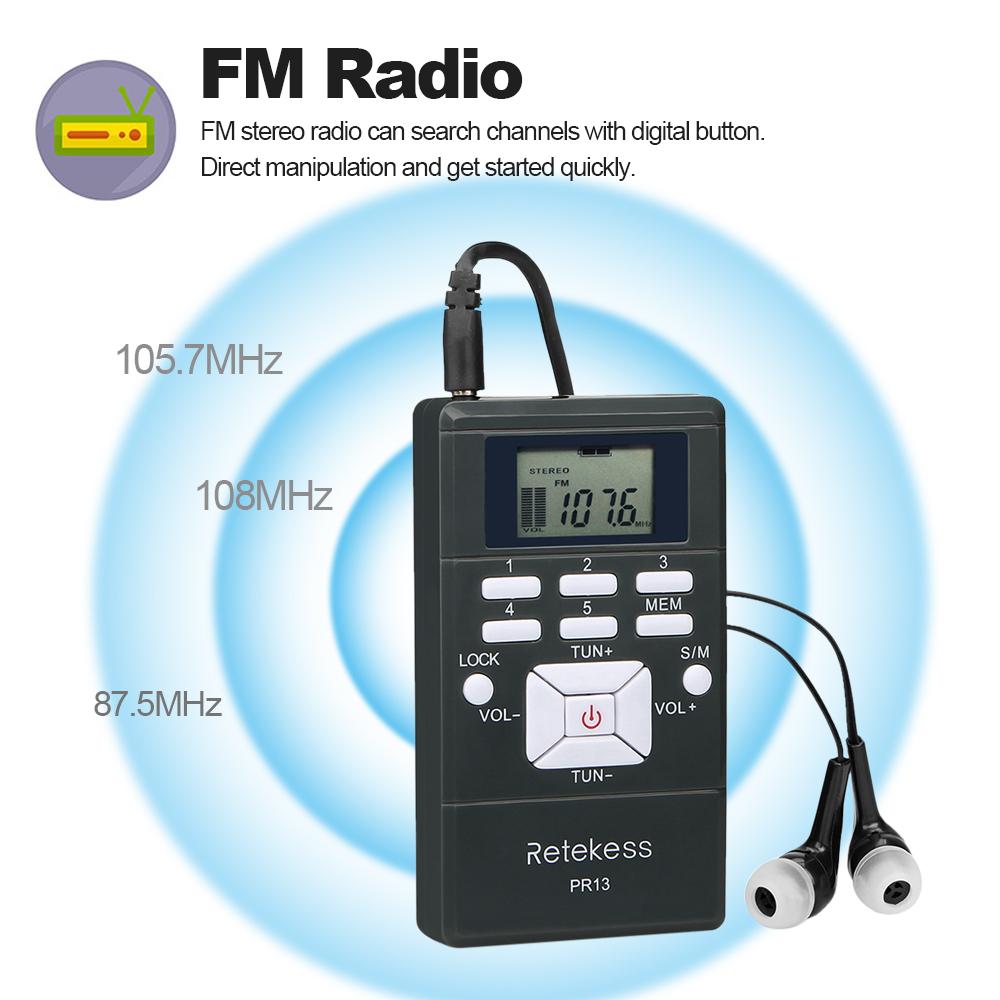 Портативный стерео мини радиоприемник PR13-R с дисплеем, часы, наушники, питание 2хААА - фото HTB1wl1hB4uTBuNkHFNRq6A9qpXap.jpg