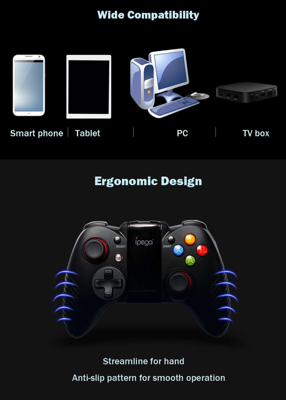 IPega PG-9067 PG 9067 беспроводной геймпад Bluetooth игровой контроллер Джойстик с растягивающимся кронштейном - фото 20161012111231_90256.jpg