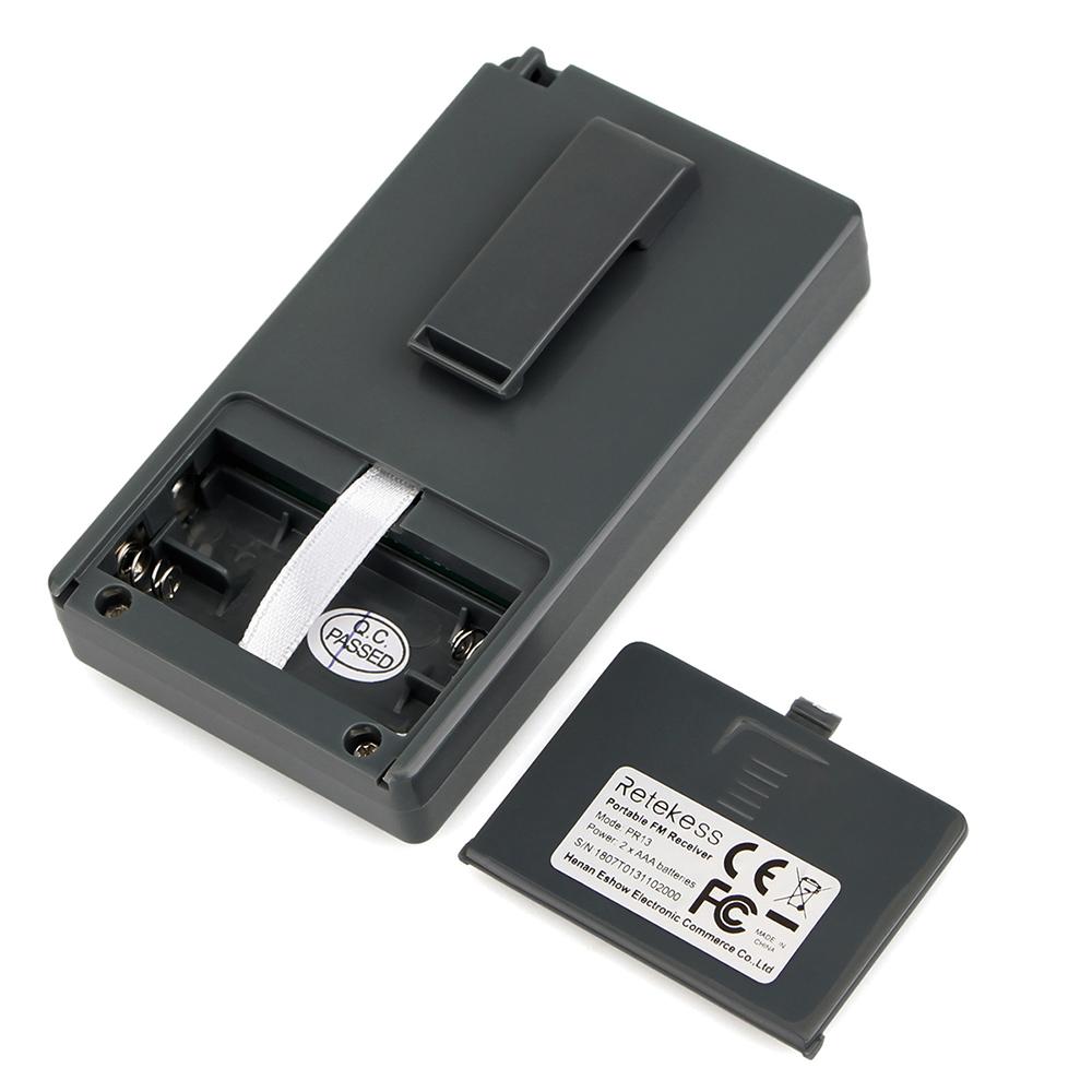 Портативный стерео мини радиоприемник PR13-R с дисплеем, часы, наушники, питание 2хААА - фото HTB18hd3djfguuRjSspkq6xchpXaF.jpg