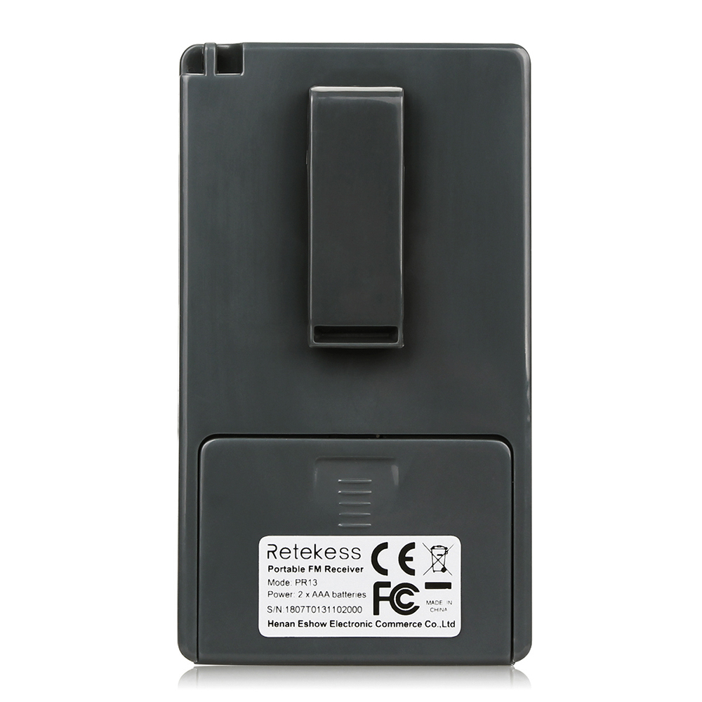 Портативный стерео мини радиоприемник PR13-R с дисплеем, часы, наушники, питание 2хААА - фото HTB1D55OumMmBKNjSZTEq6ysKpXaR.jpg