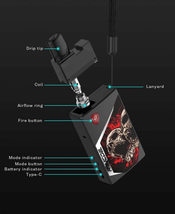 Rincoe Tix POD kit - разукрашенный коробок...