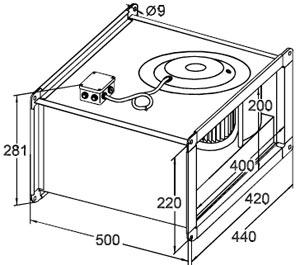 Вентилятор Канальный SVF 40-20 - фото 1