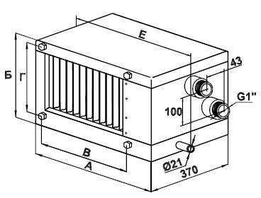 Водяной Воздухоохладитель 90-50/3R - фото 1