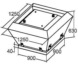 Вентилятор Крышный SRV 90 - фото 1