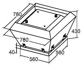 Вентилятор Крышный SRV 56 - фото 1