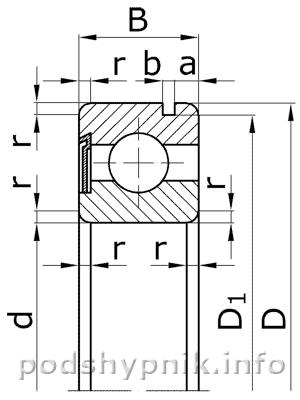 Эскиз подшипника 150204