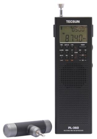 Фото переносного приемника радио Tecsun PL-360