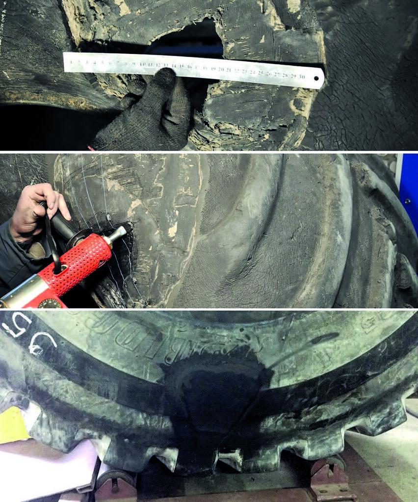 Ремонт крупногабаритных шин, продажа б/у шины - фото Фото: sas-tyre.ru