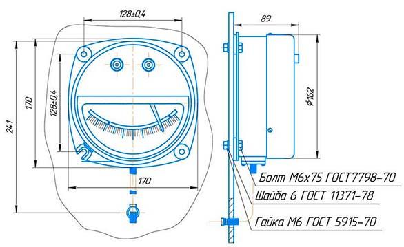 ТКП-160Сг-М3 термометр манометрический показывающий конденсационный сигнализирующий