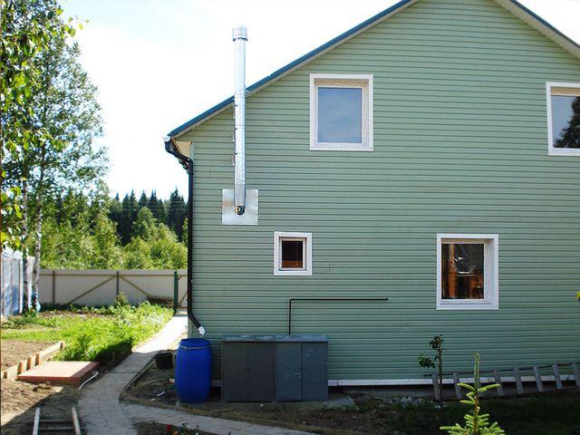 Котлы газовые - фото Котлы с открытой горелкой требуют сооружения высокого дымохода для поддержания естественной тяги