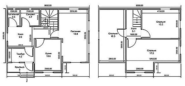 Котлы газовые - фото Для расчета потребуется план помещений дома или квартиры