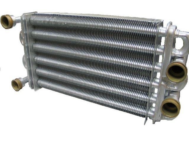 Котлы газовые - фото Битермальный теплообменник двухконтурного газового котла