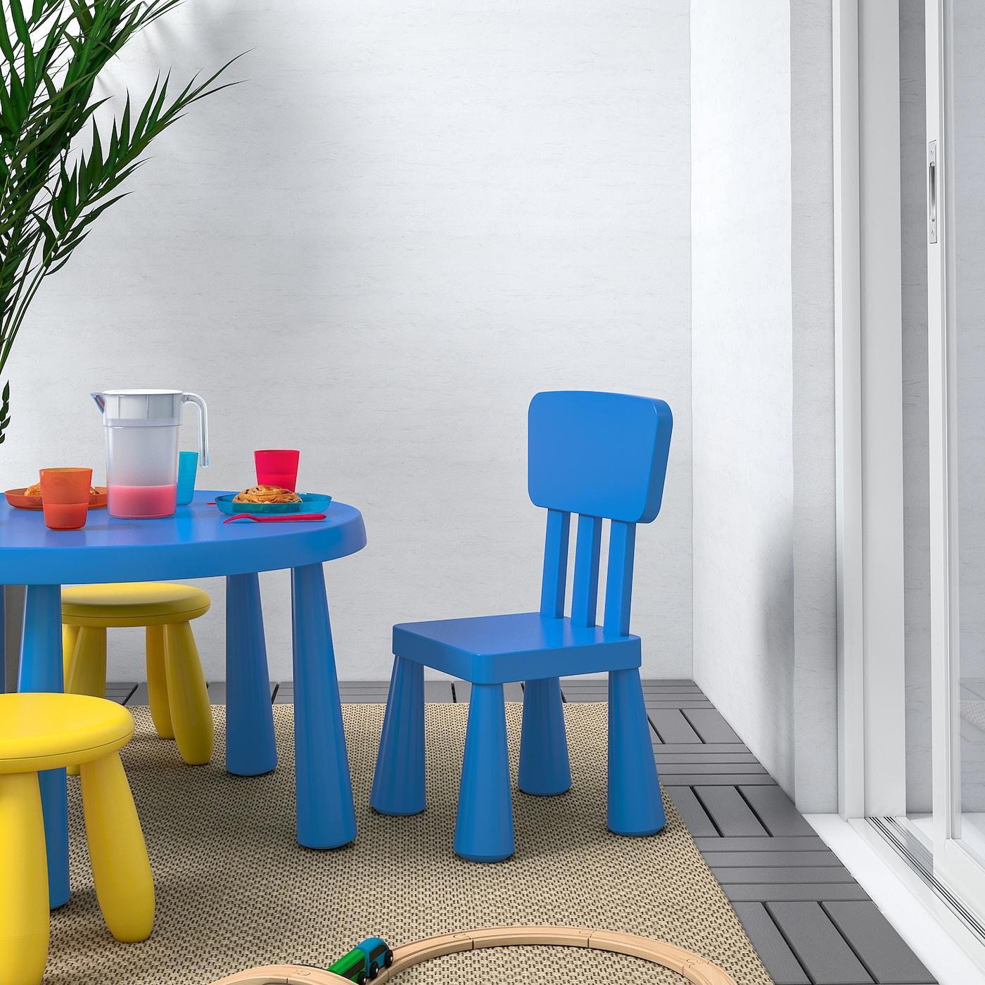 МАММУТ дитячий стілець для приміщення/вулиці/синій 39 см 36 см 67 см 26 см 30 см