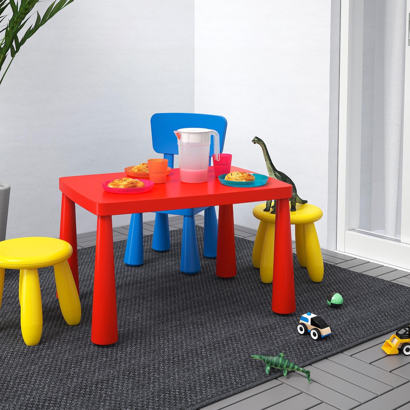 МАММУТ дитячий стіл для приміщення/вулиці червоний 77 см 55 см 48 см
