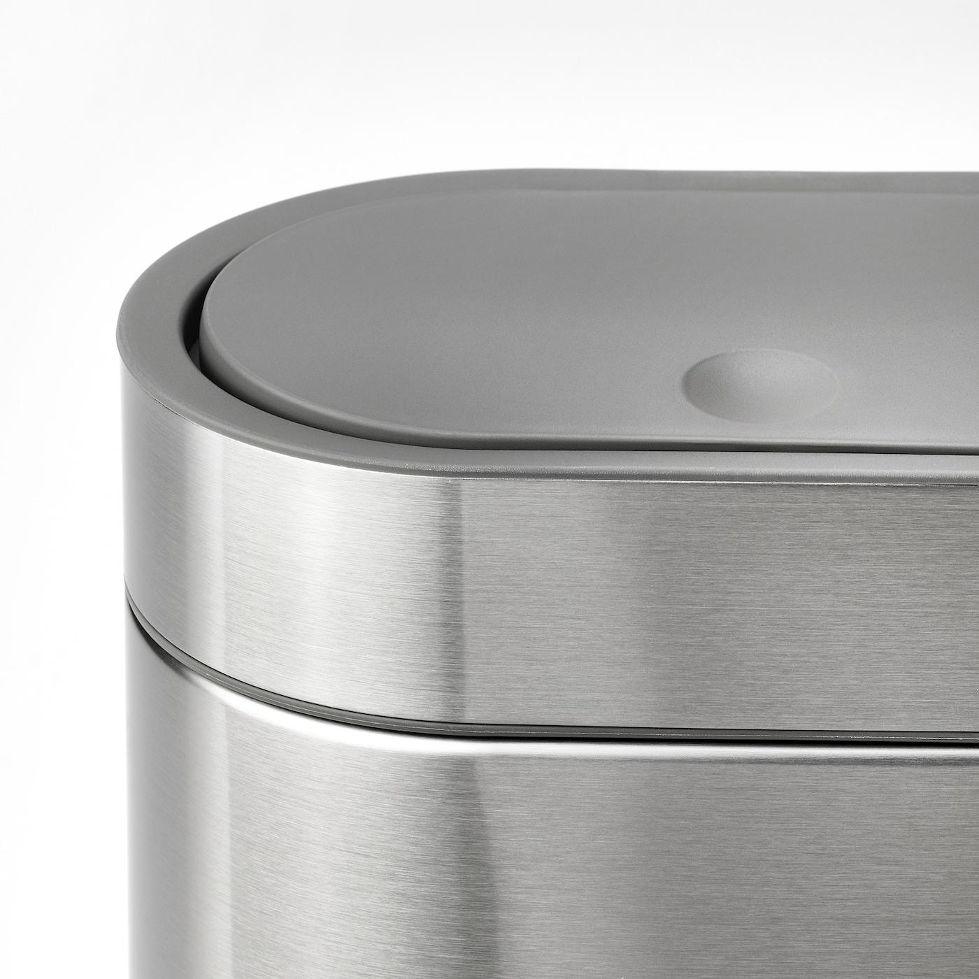 БРОГРУНД контейнер для сміття з кришкою нержавіюча сталь 21 см 14 см 27 см 4 л