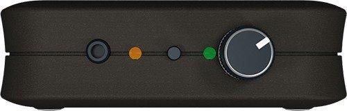 """Регулятор громкости акустической помехи, аудиовыход, кнопка включения режима Турбо расположены на передней боковой панели подавителя диктофонов """"BugHunter DAudio bda-2 Voices"""""""