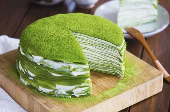 Вкусный и пушистый торт #Matcha: D