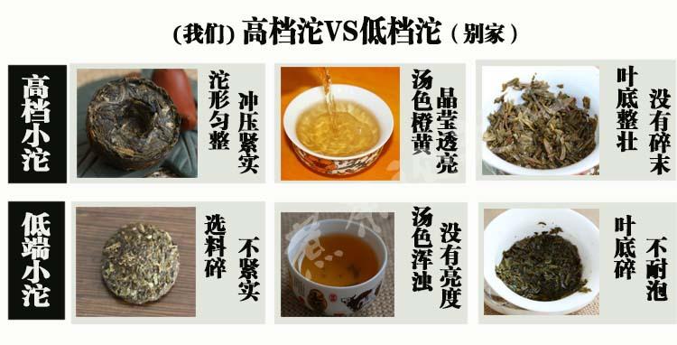 生茶汤色对比图1