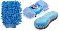 Щетки и скребки для мытья машин - фото Варежка и губка из микрофибры и коралловой ткани