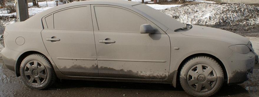 Щетки и скребки для мытья машин - фото Загрязнения на автомобиле