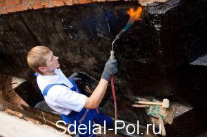 Разогрев стен газовой горелкой