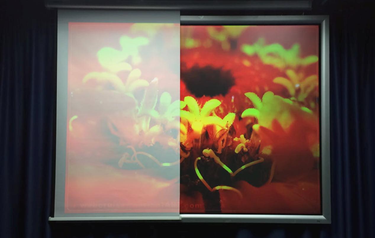 Яркость изображения на проекторе